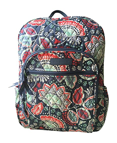 aa9dfacef2 Vera Bradley Campus Backpack (Nomadic Floral with Grey Interior)   Amazon.in  Sports