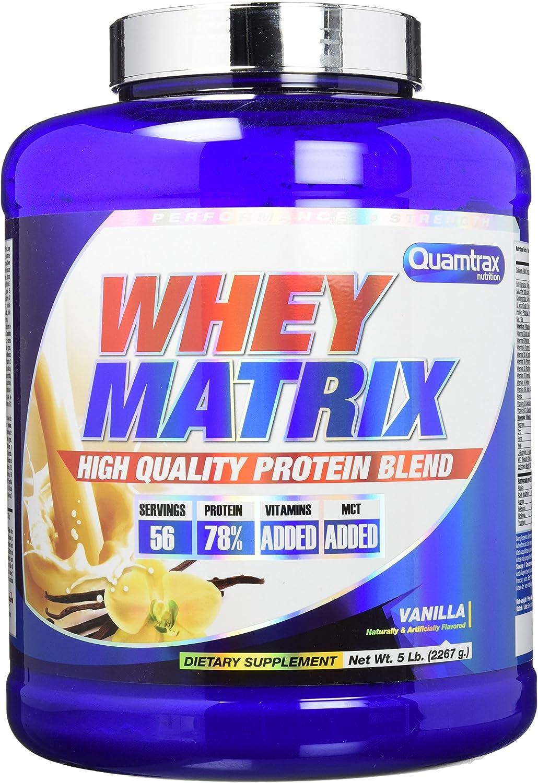 Quamtrax Whey Matrix Sabor Vainilla- 2267 gr