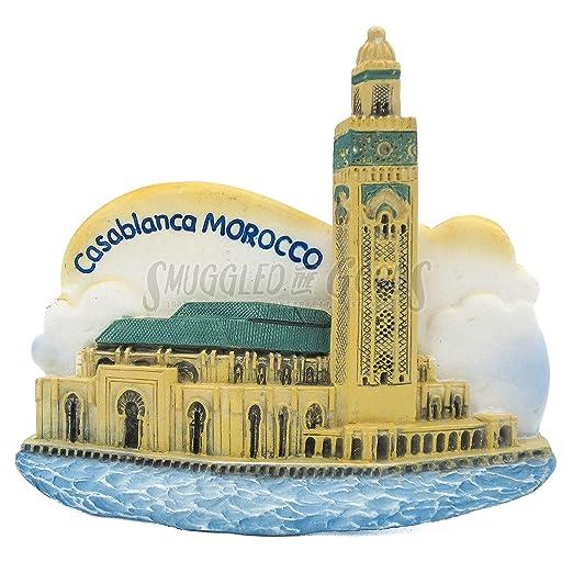 Hassan II Mosque Casablanca 3D Pintado a mano Imán de resina ...