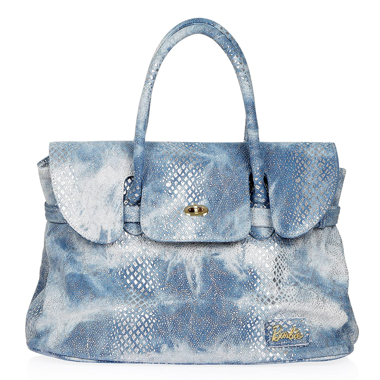 Barbie Modern Series Simple Multicolored Print Denim Handbag&Cross-body Bag #BBFB071.01A