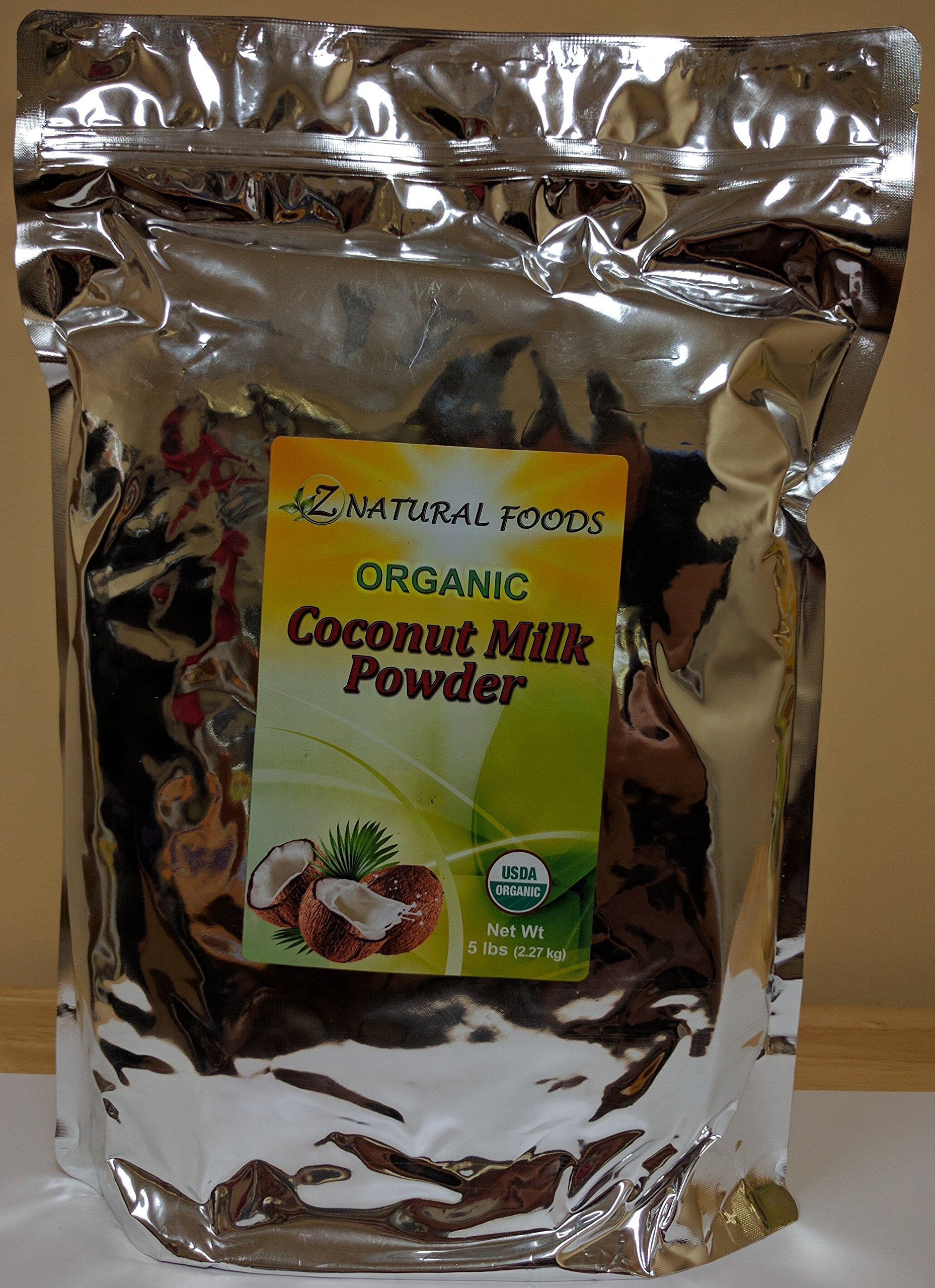 Z Natural Foods - Organic Coconut Milk Powder - Kosher, Vegan, Fresh, Gluten Free, All-Natural, Dairy Free, Non-GMO, Keto, Paleo Diet Friendly (5 lbs) by Z Natural Foods