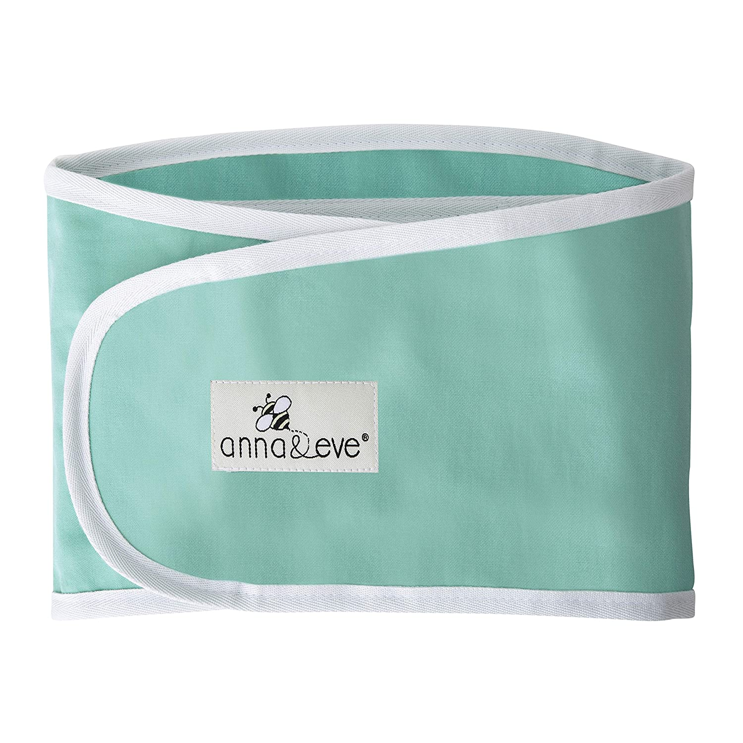 Anna & Eve - Baby Swaddle Strap, Adjustable Arms Only Wrap for Safe Sleeping - Large Size Fits Chest 16 to 20.5, Aqua