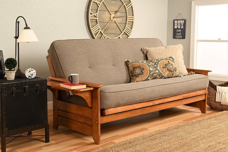 Kodiak Furniture Phoenix Futon Set, Full, Linen Stone