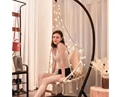 VIVOHOME Hanging Hammock Chair with 39 Feet Long LED Lights for Indoor Outdoor, 330 lbs Capacity, Note: Stand Not Included