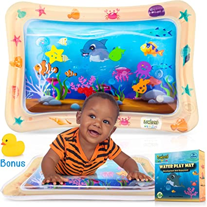 Baby Water Play Mat Tummy Time Inflatable Mat for 3//6//9 Month Infants /& Toddlers Sensory Toy Activity Center Early Development BPA Free