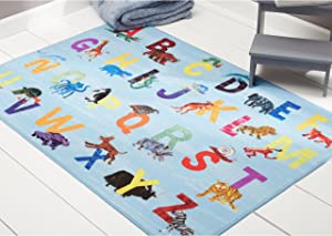 Home Dynamix Eric Carle Elementary Alphabet Educational Kids Area Rug 35