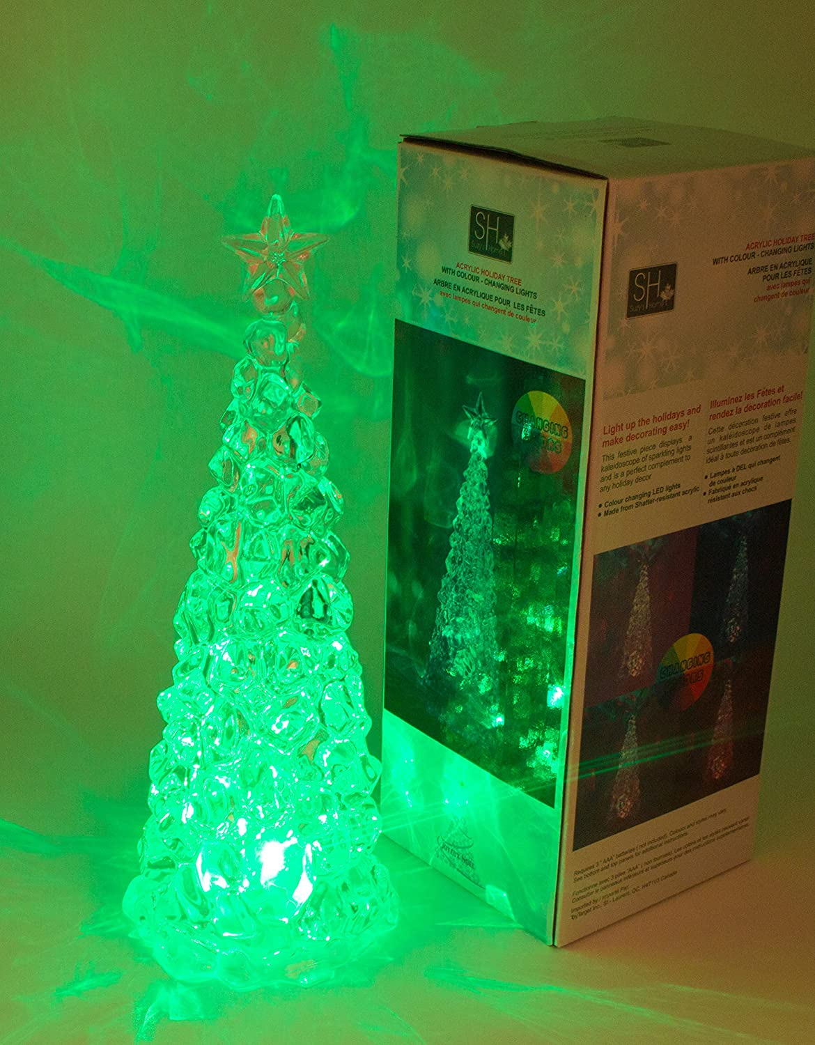 11-inch Acrylic Christmas Tree with Color Changing LED Lights From ...