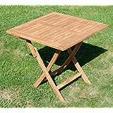 ASS Echt Teak Holz Klapptisch Holztisch Gartentisch Tisch in Verschiedenen Größen von Größe:80x80 cm