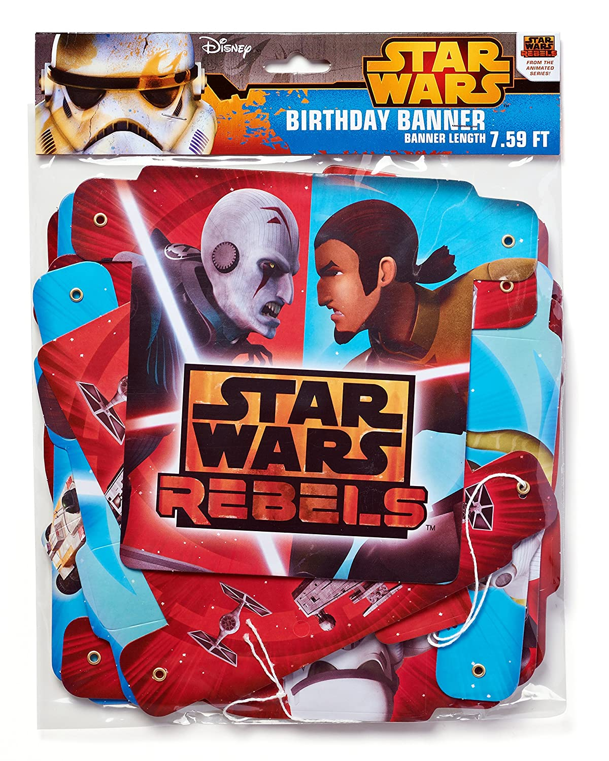 Amazon.com: American Greetings Star Wars Rebels Fiesta de ...