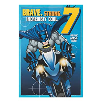 Amazon.com: Batman de edad 7 hoy 7ª tarjeta de cumpleaños ...