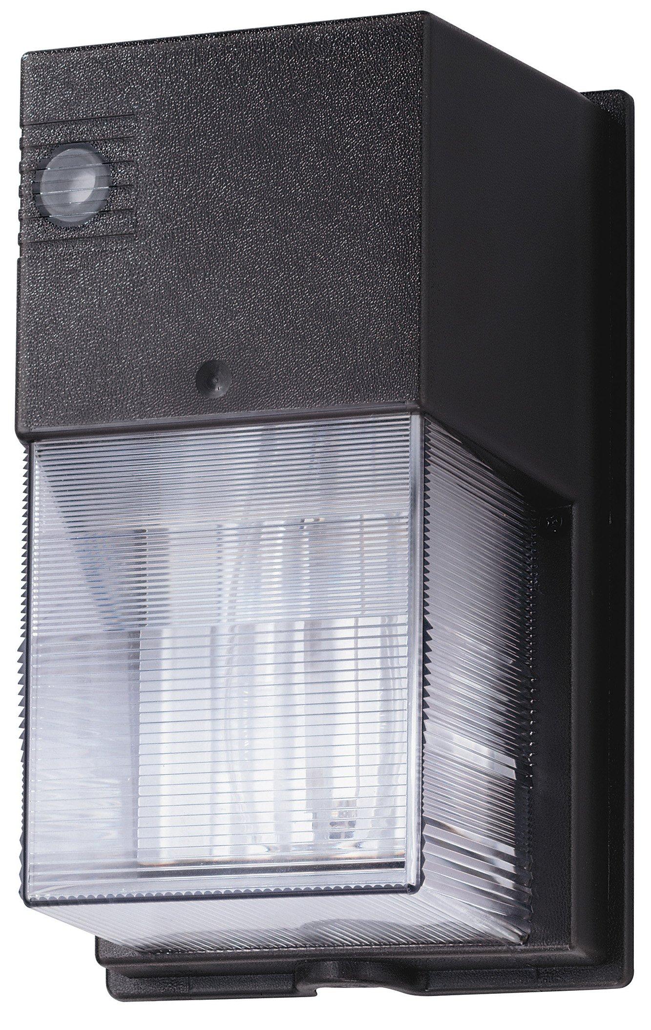 Lithonia Lighting TWS 50M 120 PE LPI M6 50-watt Metal Halide Wallpack with Photocell and Lamp, Bronze by Lithonia Lighting