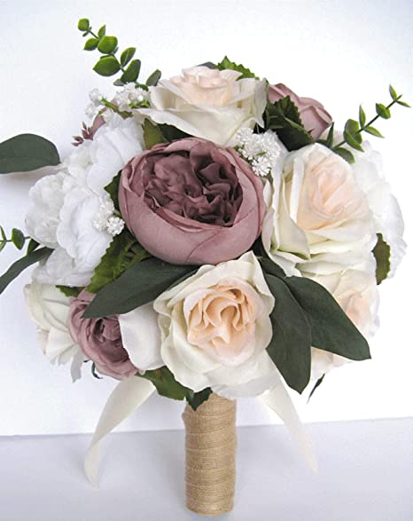 Amazon Com Wedding Bouquet 17 Piece Set Bridal Bouquets Wedding