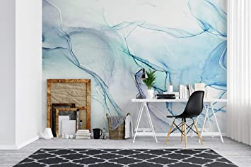Buy Abstract Ink Agate Pattern Peel And Stick Wallpaper Removable Wall Mural 9ft H X 8ft W Abstract Ink Painting Online At Low Prices In India Amazon In