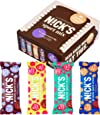 NICKS Sport Mix con variaciones de sabor Sport Crunch, Barras de proteína de chocolate, sin azúcar añadido, sin gluten 9 x 40 g
