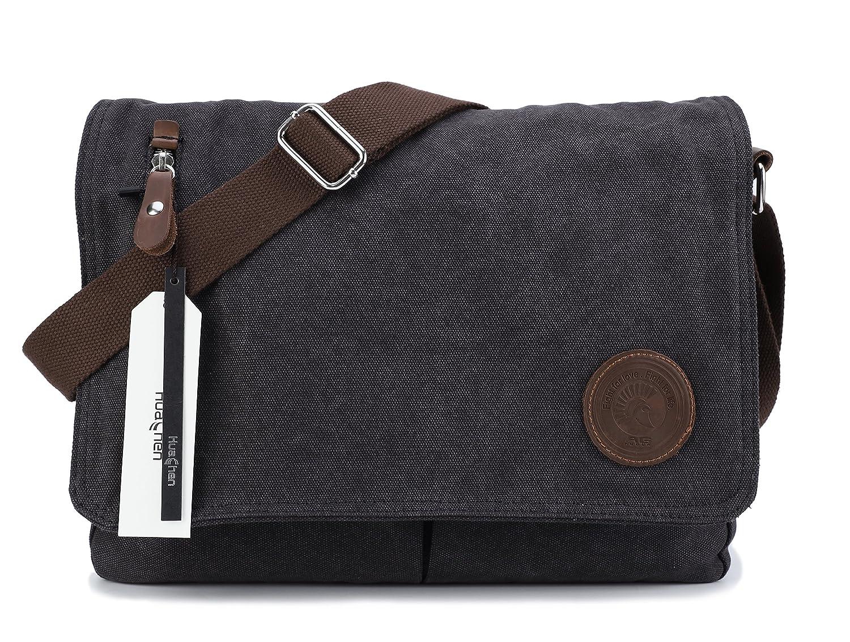 d95d4c7d77b Top12  Vintage Men s Canvas Messenger Bag Laptop Shoulder Satchel Crossbody  School Bag