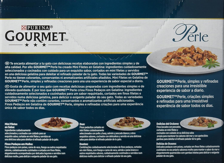 Purina Gourmet Perle - Finas Láminas en Gelatina, 1 Paquete Surtido de 8 x 85 gr - Total: 680 gr: Amazon.es: Productos para mascotas
