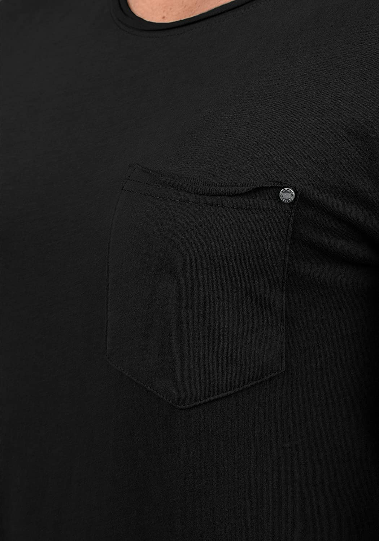 Blend Flix Camiseta B/ásica De Manga Corta T-Shirt para Hombre con Cuello Redondo De 100/% algod/ón