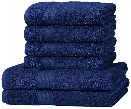 180 opinioni per AmazonBasics- Set di 2 asciugamani da bagno e 4 asciugamani per le mani che non