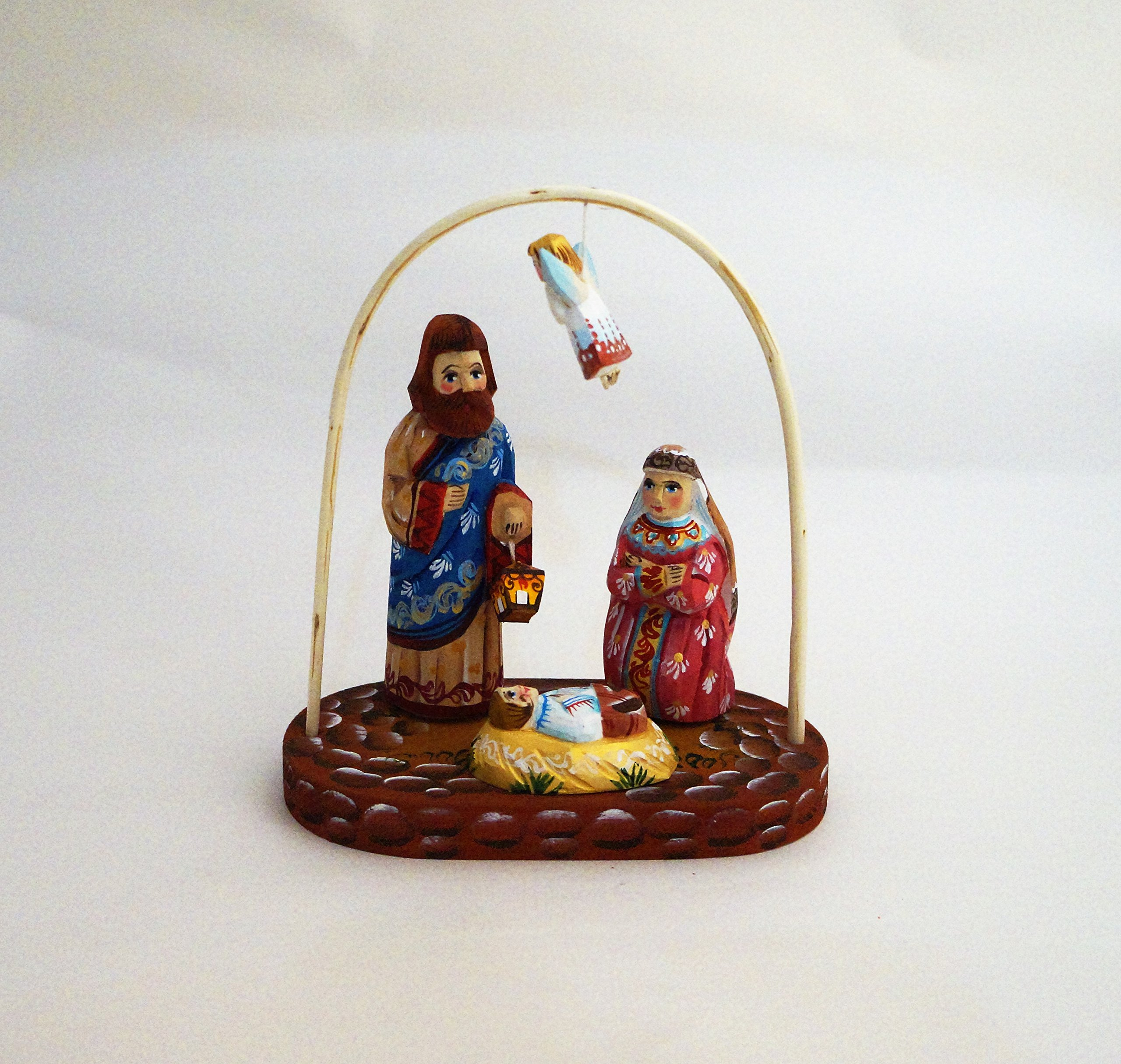 Wood Carved Nativity Set #2