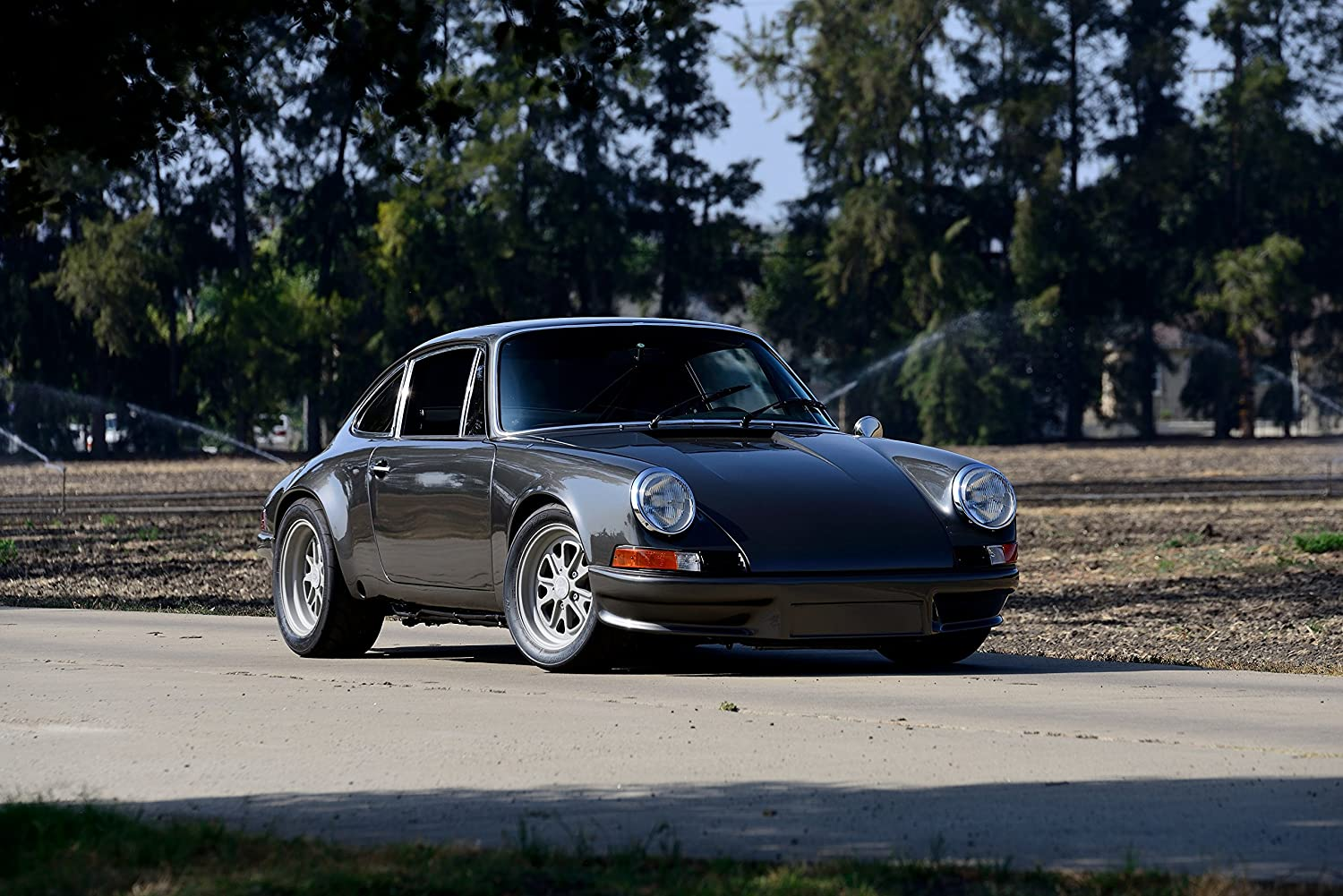 Amazon.com: Porsche 911BR by Bisimoto Engineering (1980) Car Print on 10 Mil Archival Satin Paper Gray Front Side Static View 11
