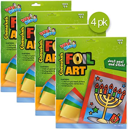 4 Pack Hanukkah Party Decorations and Supplies Izzy /'n/' Dizzy Izzy /'n/' Dizzy Menorah Shaped Candle with Stand