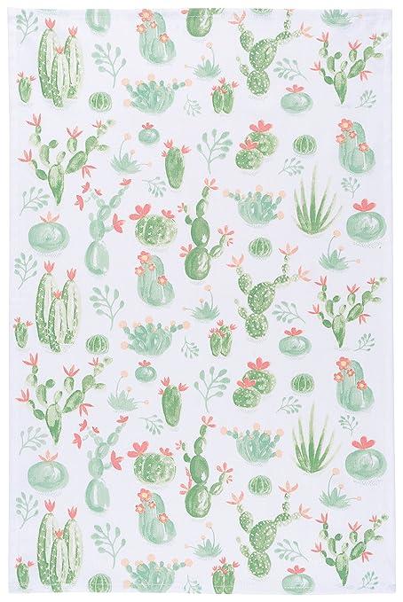 Amazon.com: Now Designs Cotton Kitchen Towel, Cacti Print: Home ...