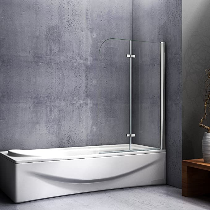 Mampara de baño con Panel pivotante de 180°, Cristal Antical de 6 ...