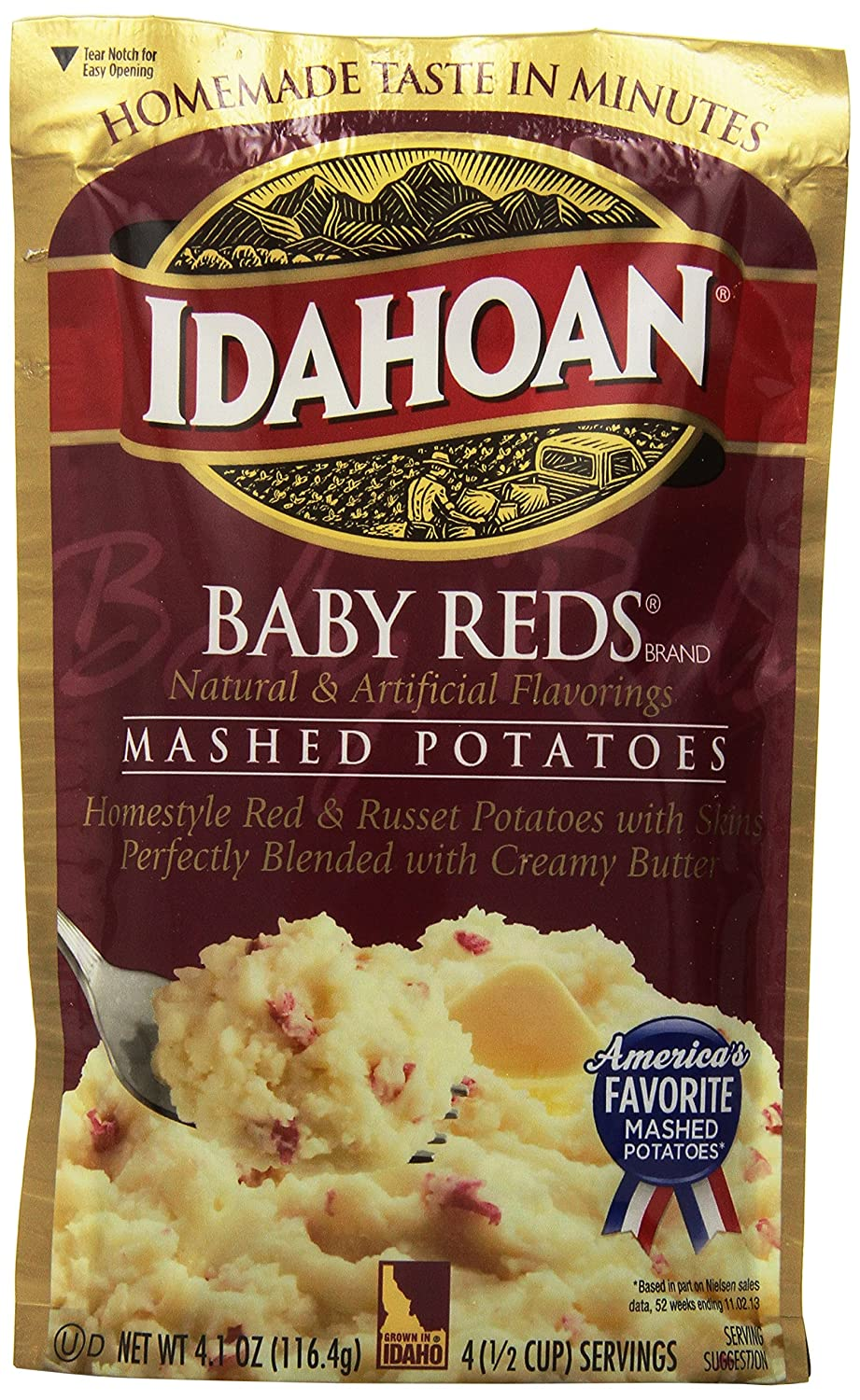 Idahoan Instant Mashed Potatoes, 4.09 Ounce (Pack of 10)