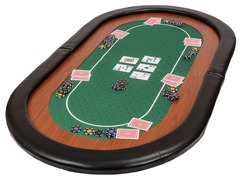 Riverboat Gaming Champion faltbare Pokerauflage mit grünem wasserabweisenden Stoff und Tasche - Pokertisch 153cm