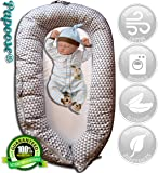 Papoose Soft and Cuddly Baby Sleeping Pod 0 - 8 Months Lounger with Bonus Breathable Storage Bag