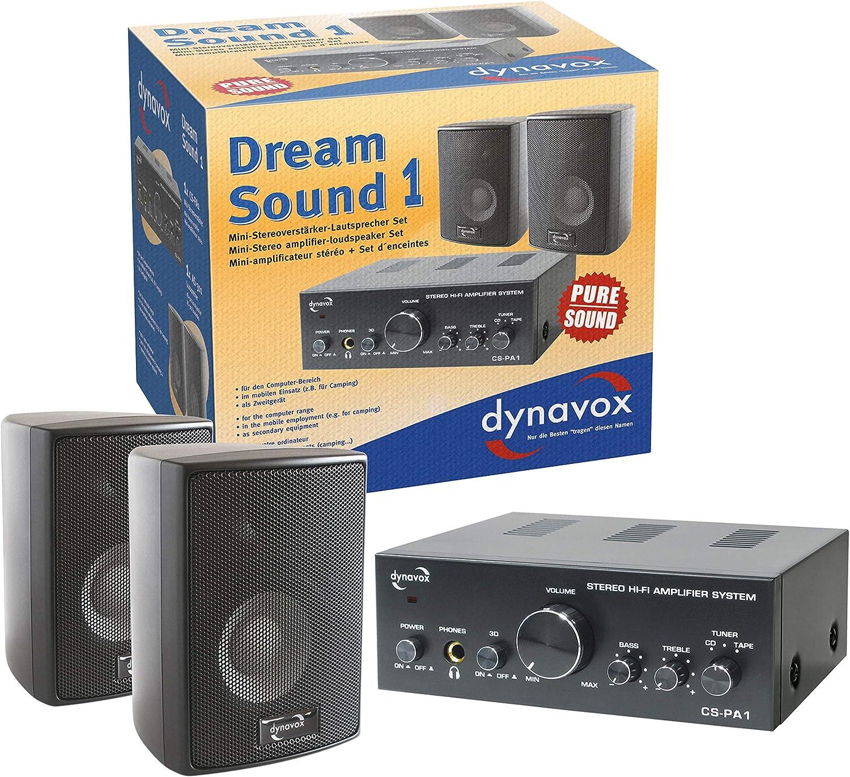 Dynavox Dream Sound Set I Hifi Verstärker 100 Watt Schwarz Audio Hifi