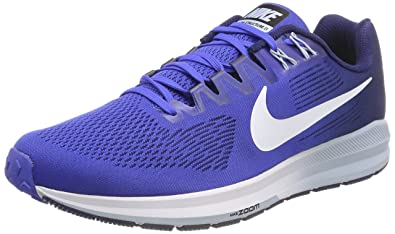 official photos 76e57 820b3 Nike Men's Air Zoom Structure 21 Running Shoes (8.5, Blue/Navy/White)