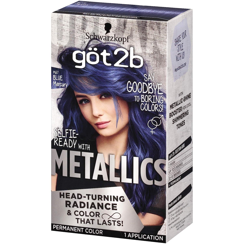 Amazon Com Got2b Metallic Permanent Hair Color M67 Blue Mercury Beauty