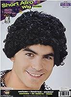 Forum Novelties Disco Short Afro Wig, Black