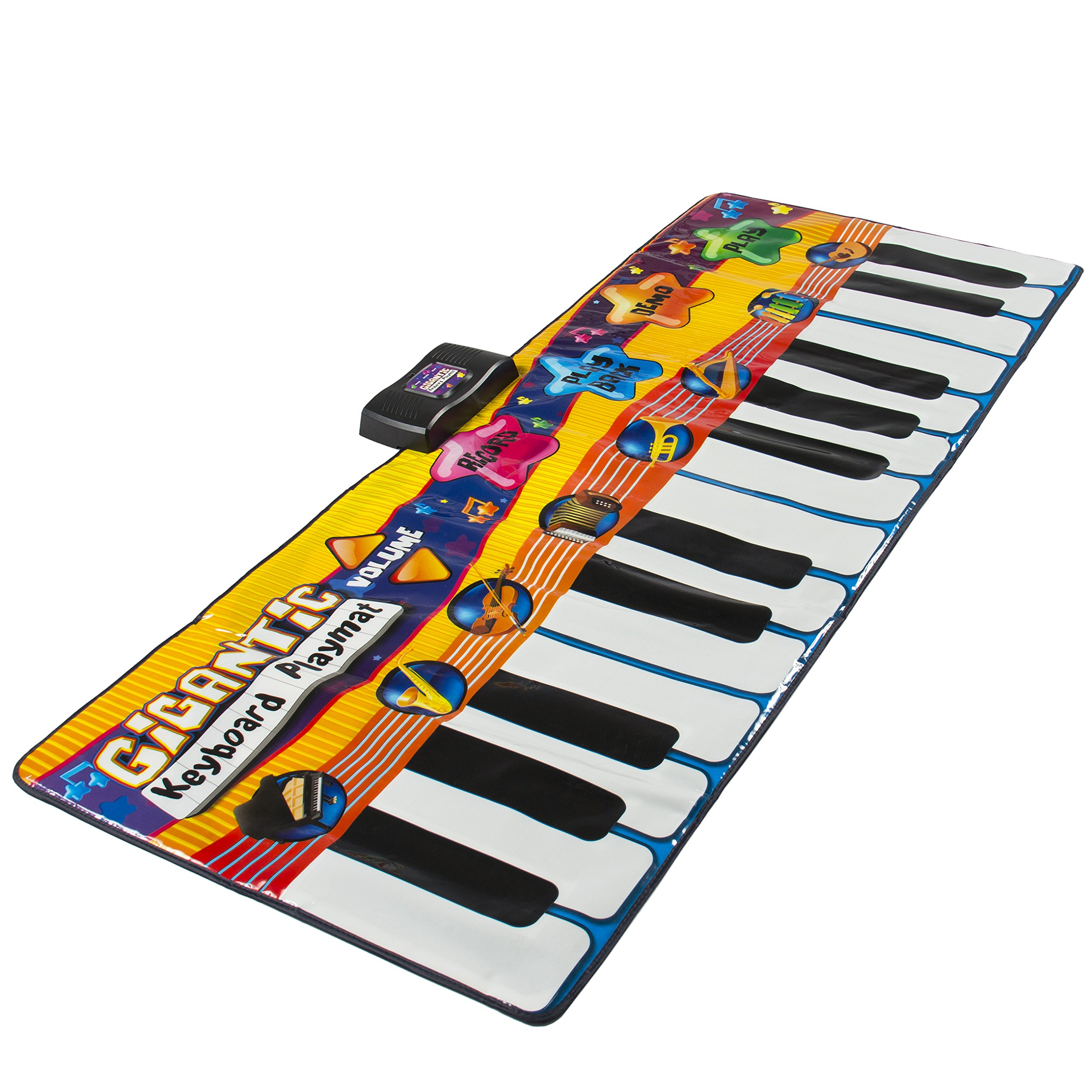 Best Choice Products Kids Big Keyboard Piano Fun Dance Playmat with 8 Instruments & 4 Play Modes, Multicolor by Best Choice Products (Image #3)