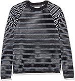 Billy Reid Men's Cotton Silk Speckled Long Sleeve Boucle Crewneck Sweater