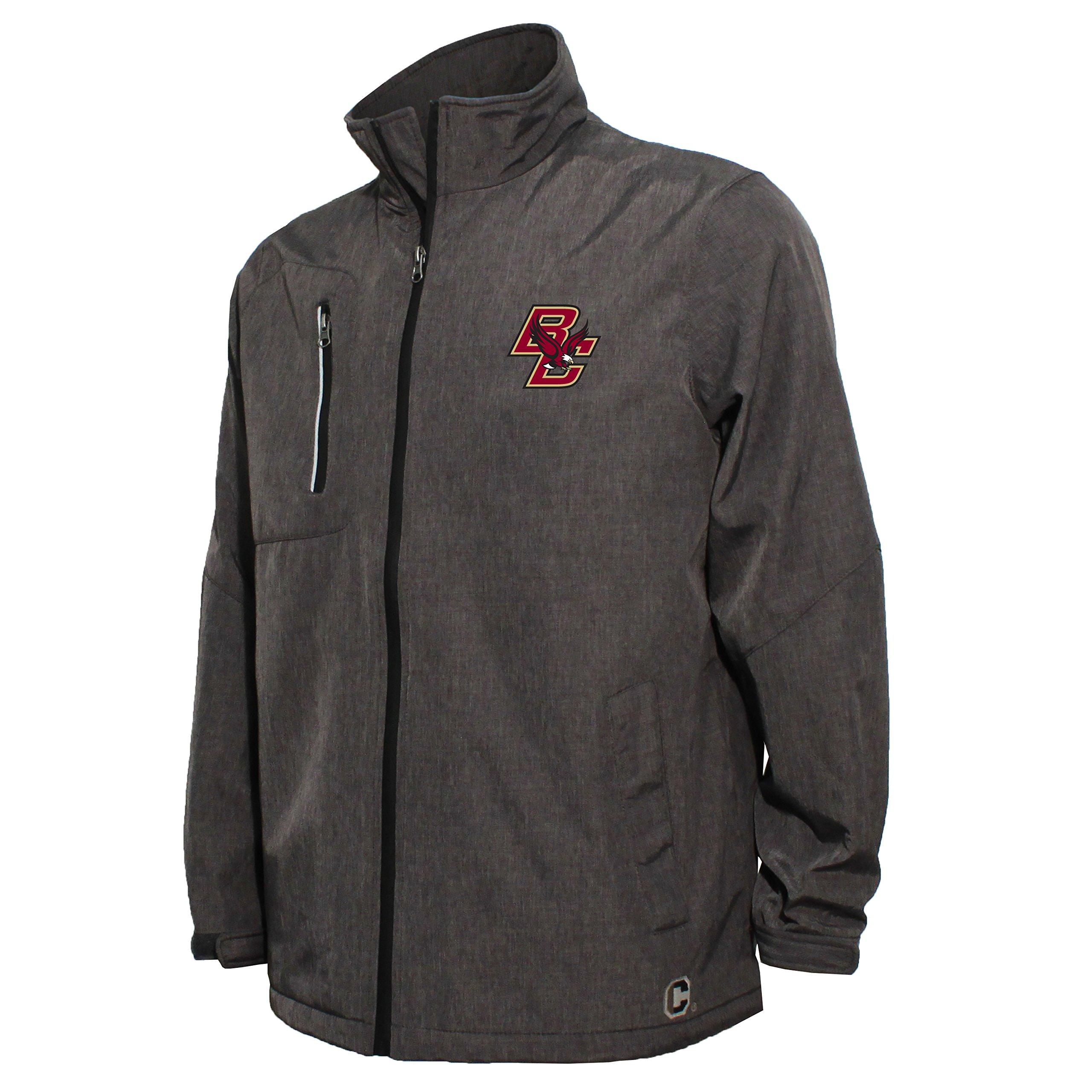 NCAA Boston College Eagles Men's Bonded Stand Up Collar Stadium Jacket, Large, Dark Gray
