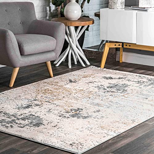 nuLOOM Abstract Contemporary Motto Area Rug, 5 x 8 , Beige
