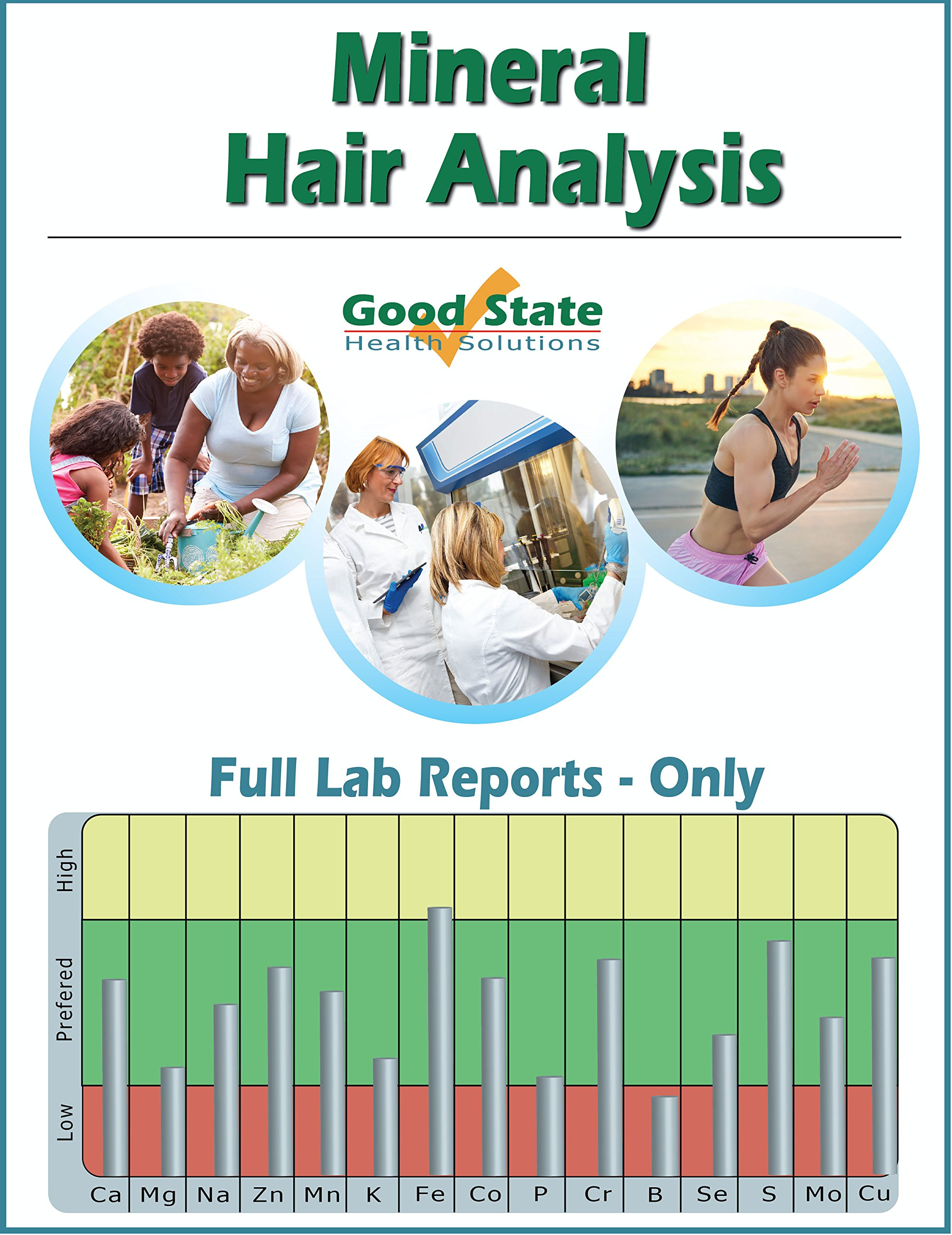 Mineral Hair Analysis - Reports Only - Includes Test Sample Collection Kit and Pre-Paid Sample Return Label