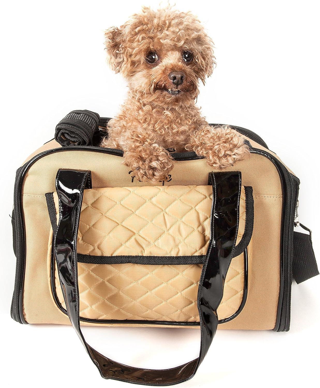 One Size Brown PET LIFE Mystique Airline Approved Fashion Designer Travel Pet Dog Carrier