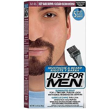 Amazon.com : Just For Men Mustache & Beard Brush-In Color Gel, Deep ...