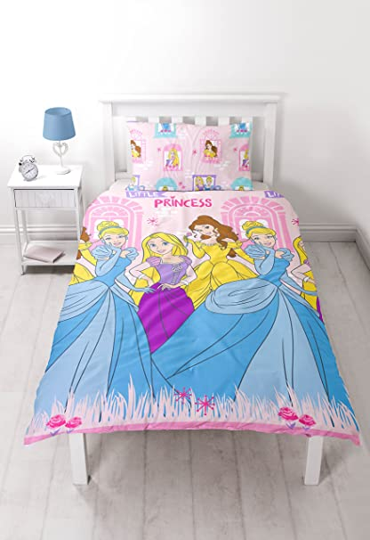 Disney Princess Boulevard Single Duvet Set - Repetitive Print Design