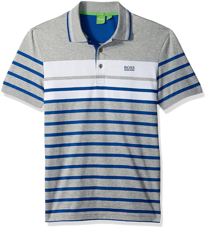 Hugo Boss Hombres Camisa Polo - Gris -: Amazon.es: Ropa y accesorios