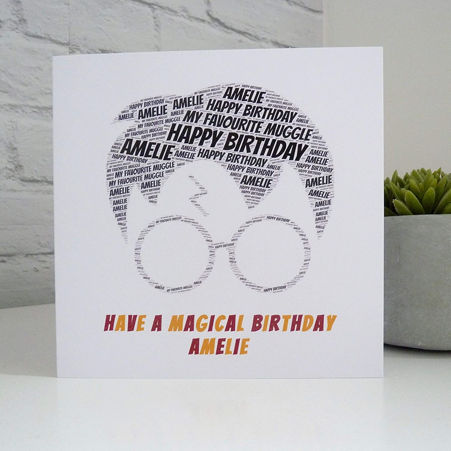Personalised Harry Potter Inspired Birthday Card Amazon Co Uk Handmade