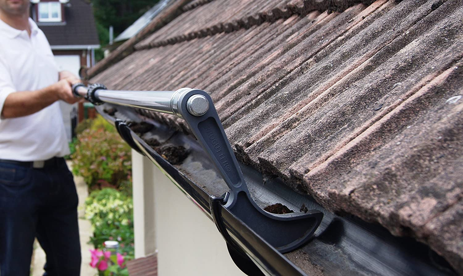 Image result for roof gutter cleaning