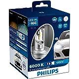 Philips X-treme Ultinon LED H4 6000K 12V globes - boxed pair