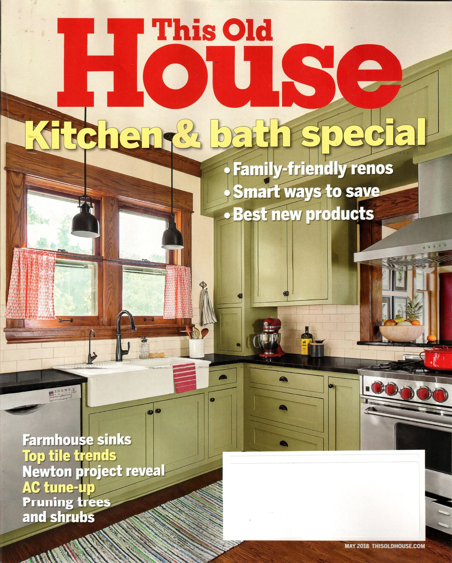 This Old House Magazine May 2018   Kitchen & Bath Special: Amazon ...