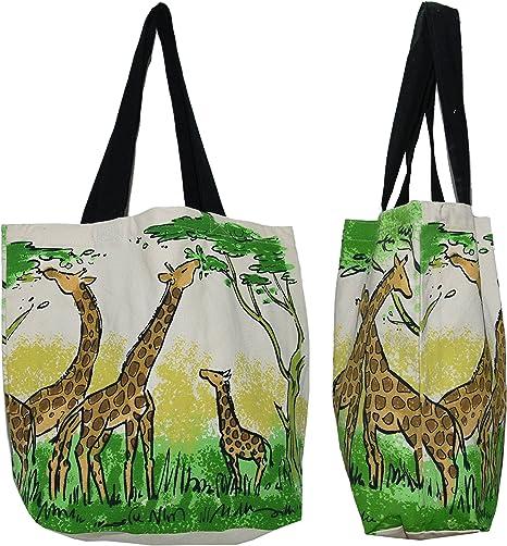 Giraffe canvas tote canvas tote bag, reusable shopping bag