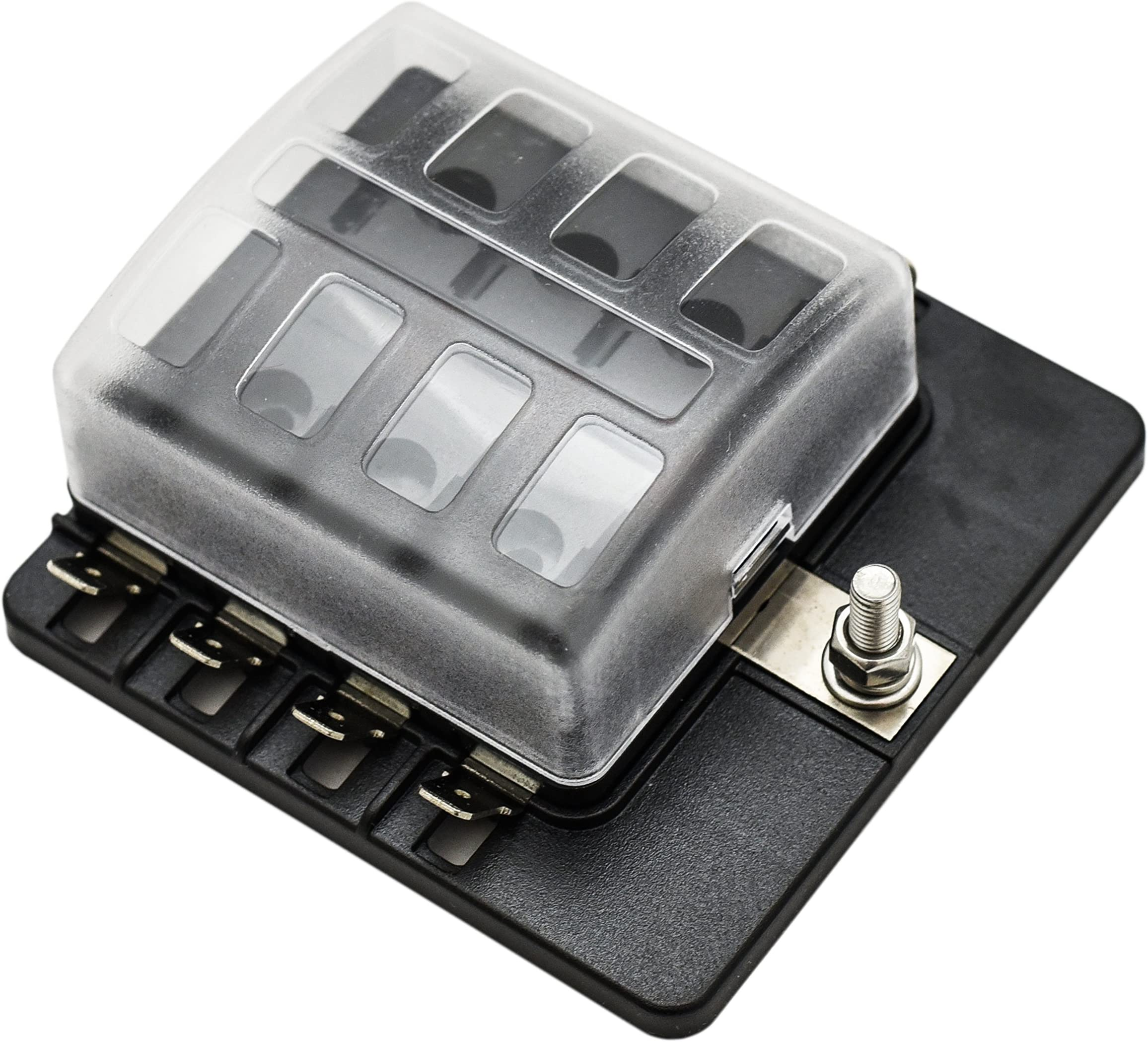 Amazon Com Fuse Boxes Fuses & Accessories Automotive Universal Fuse Block With Relays Fuse Block Autozone Automotive Fuse Box Replacement