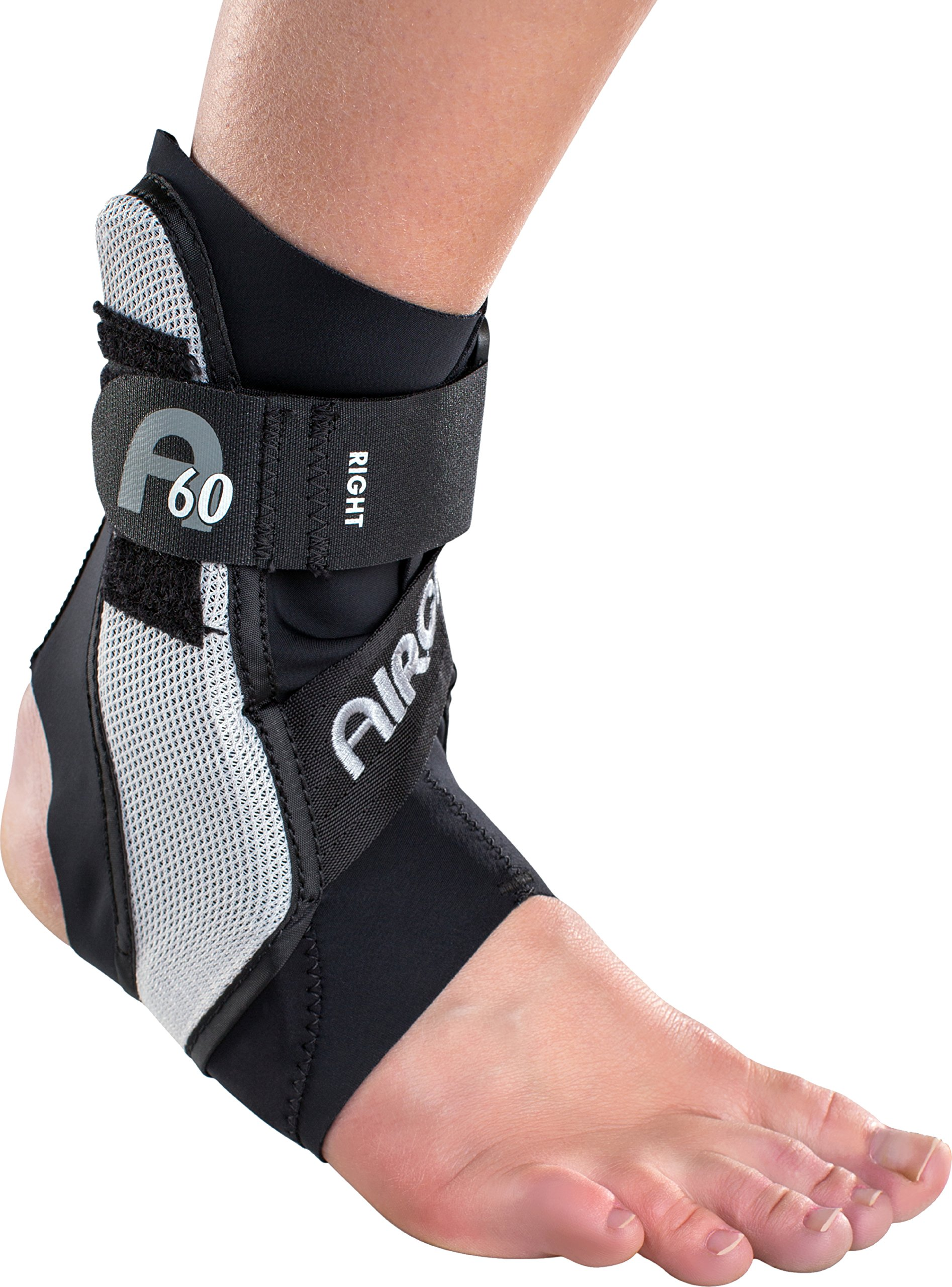Aircast A60 Ankle Support Brace, Right Foot, Black, Medium (Shoe Size: Men's 7.5 - 11.5 / Women's 9 - 13)